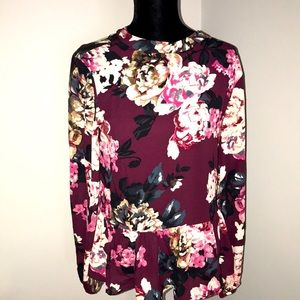 Gorgeous floral print peplum blouse SML